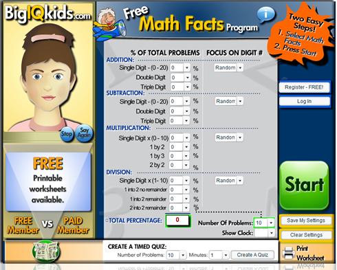 Math Facts | math drills | mathfacts | multiplication facts practice ...
